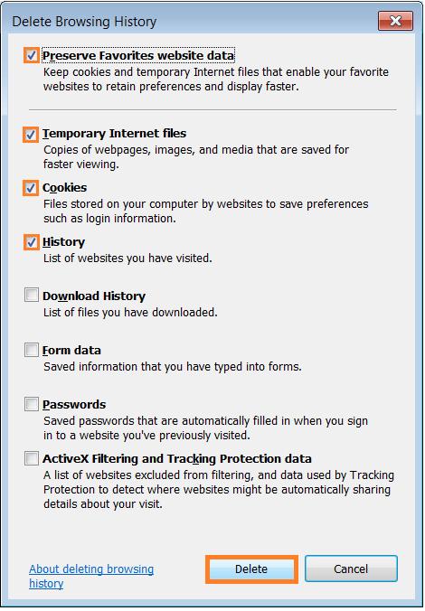 Script Errors - Internet Options - General tab - Delete Browsing History - Delete History - WindowsWally