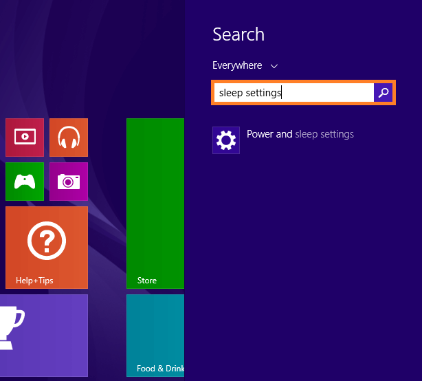 Windows 8 Sleep - Power and Sleep Settings - WindowsWally
