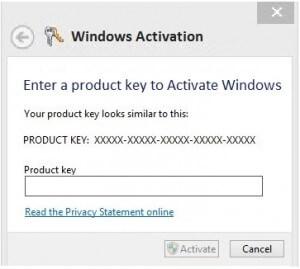 windows 8 registration key not working