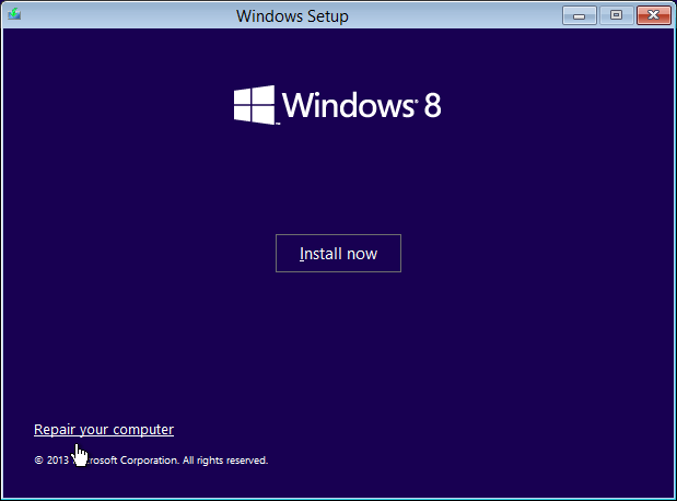 Windows 8.1 Reset - Repair your computer -- Windows Wally
