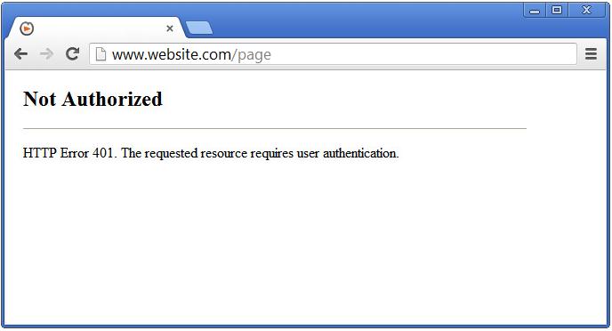 Server Errors - 401 Unauthorized - SolvuSoft