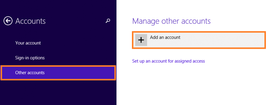 Windows 8.1 Speed - PC Settings - Accounts - Other Accounts - Add an account - WW -- Windows Wally
