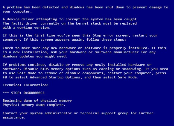 DRIVER_CAUGHT_MODIFYING_FREED_POOL - Cover - BSoD -- Windows Wally