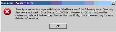 STATUS SAM INIT FAILURE - Cover - Error -- Windows Wally