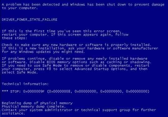 Driver_Power_State_Failure - Cover 2 - BSoD -- Windows Wally