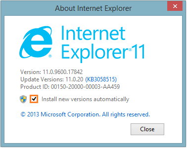 Internet Explorer Stops - Internet Explorer - About -- Windows Wally