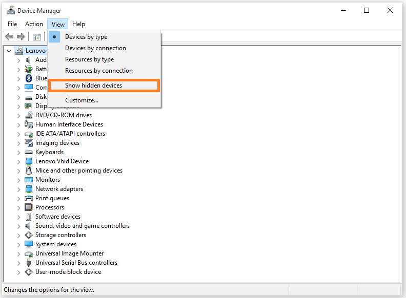 0x800704cf - Device manager - Show hidden devices -- Windows Wally