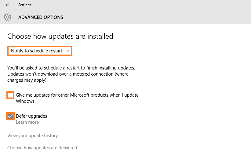 Windows 10 - Automatic Updates - Update & Security - Windows Update - Advanced options - Disable -- Windows Wally