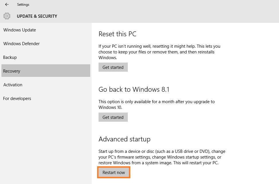 IRQL_UNEXPECTED_VALUE - Windows 10 - Advanced Startup - Restart Now -- Windows Wally
