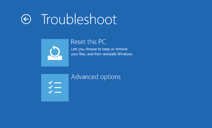 0x0000007E - Fix Windows 10 - Screen 3 - Troubleshoot (screen) -- Windows Wally