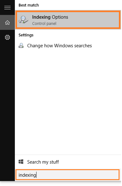Windows Search - Indexing Options - 1 - Windows 10 - Windows Wally