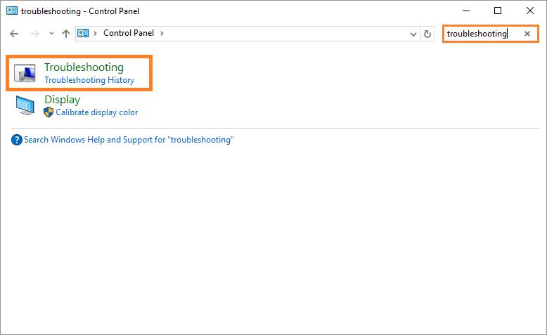 0x8E5E0407 - Windows 10 - Control Panel - Troubleshooting - Windows Wally
