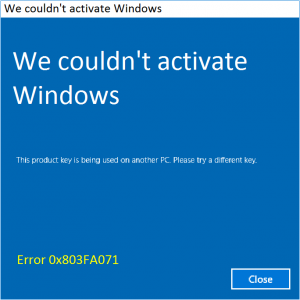 0x803FA071 - Windows Activate - Featured - Windows 10 -- Windows Wally