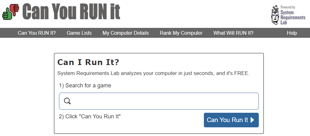 Video Games -- Can you Run it - Windows 10 - Windows Wally