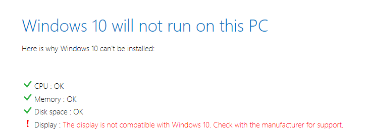 Windows 10 -- Display is not compatible - Cover - Featured - Windows Wally