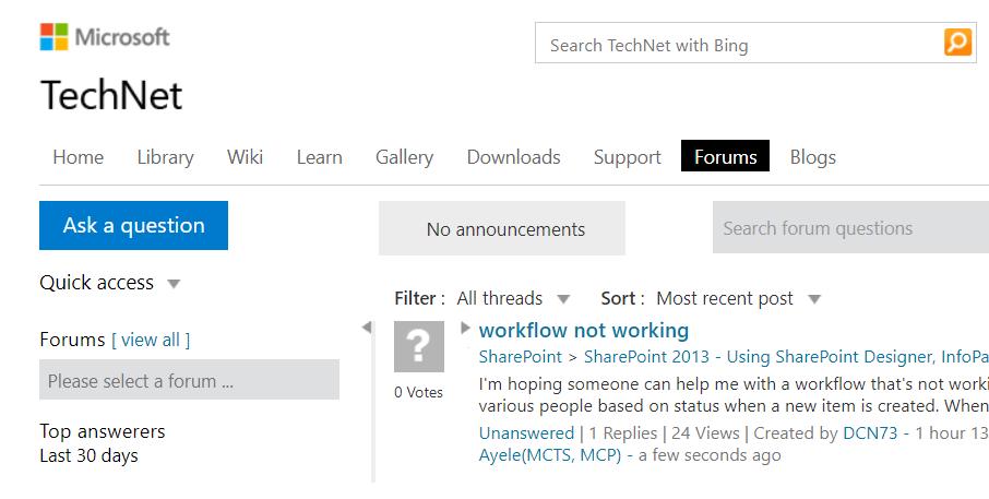 Computer Problems -- TechNet Forums - Screenshot - Windows Wally
