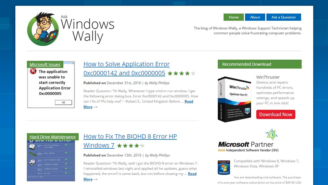 Computer Problems -- WindowsWally Facebook - Cover - Windows Wally