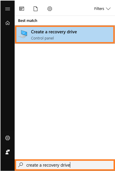 Recovery Drive -- Windows Key - Create a recovery drive - Windows Wally